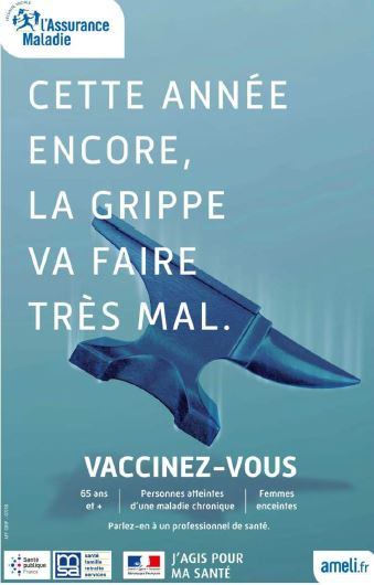 Stand d'information Vaccination antigrippale le 15/11/2019